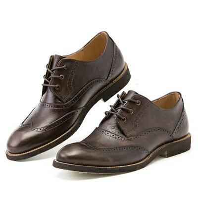 短靴真皮繫帶靴子-英倫時尚巴洛克雕花男靴2色73kk83【獨家進口】【米蘭精品】
