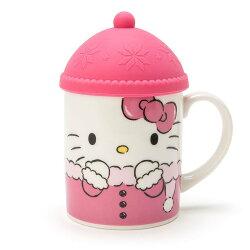 大賀屋 hello kitty 馬克杯 含蓋 帽子杯 茶杯 咖啡杯 含蓋杯 杯子 三麗鷗 凱蒂貓 L00010601