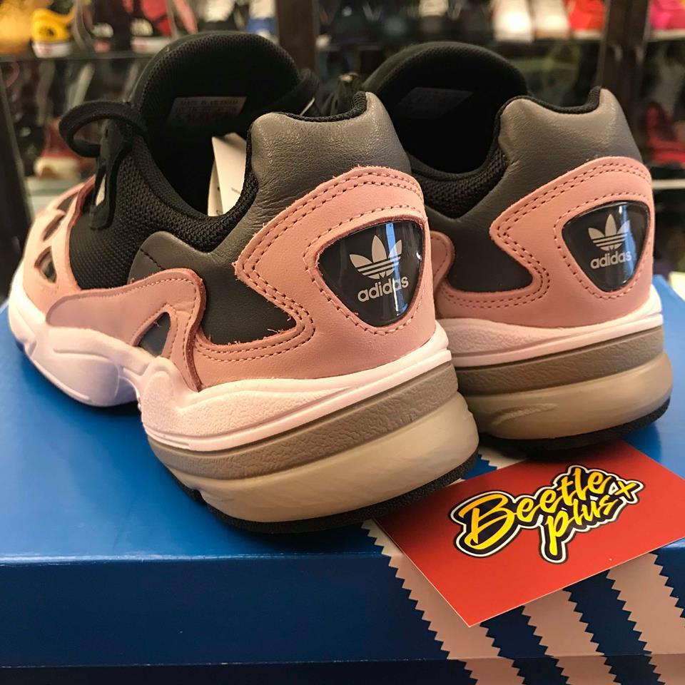 女鞋 BEETLE ADIDAS FALCON W 黑粉 老爹鞋 復古 厚底  B28126 23.5 24.5 5