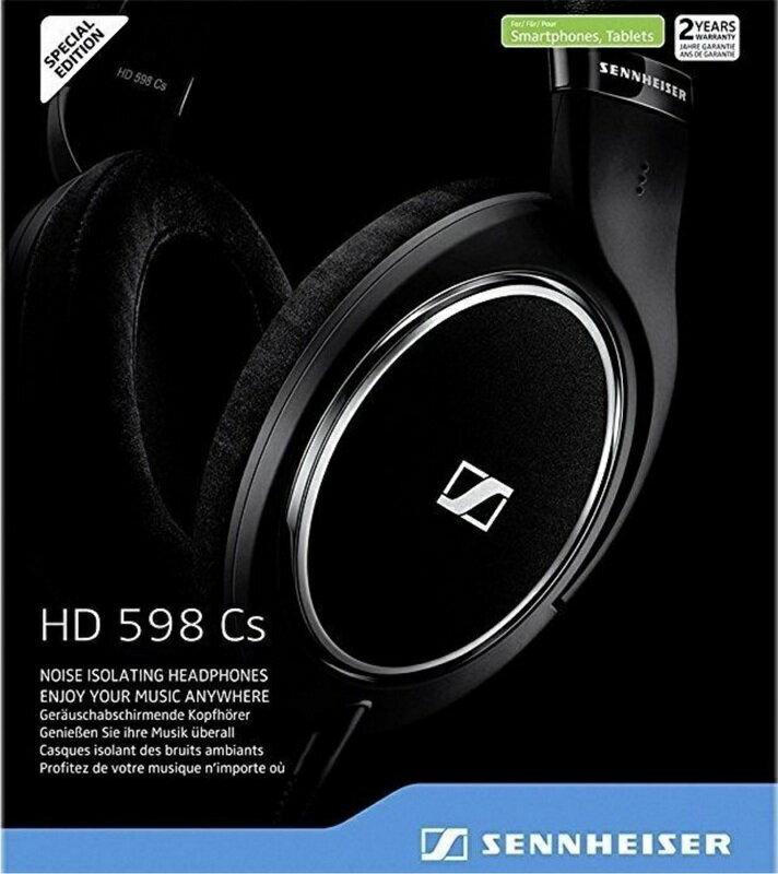 Sennheiser HD598 Cs 封閉式耳罩式耳機 雷射防偽條碼 二年保 598CS 勝M50X