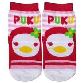 PUKU 橫條學步襪24-36m - 粉 1605『121婦嬰用品館』