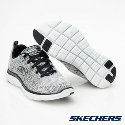 SKECHERS(女)運動系列FlexAppeal2.0-12756WBK【胖媛的店】