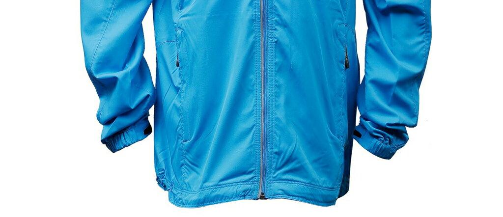 男抗UV單層風衣 - 水藍 3459 2