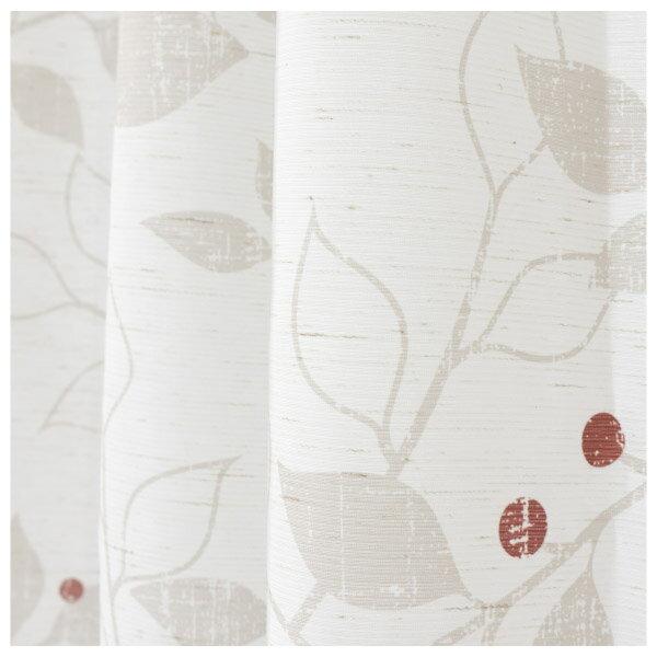 蕾絲窗簾 G HOLIDAY LEAVES OR 150×176 ×1 NITORI宜得利家居 2