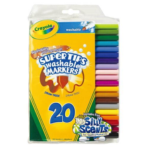【繪兒樂 Crayola 彩色筆】58-8106 易清洗彩色筆/彩色筆 20色 (細線)