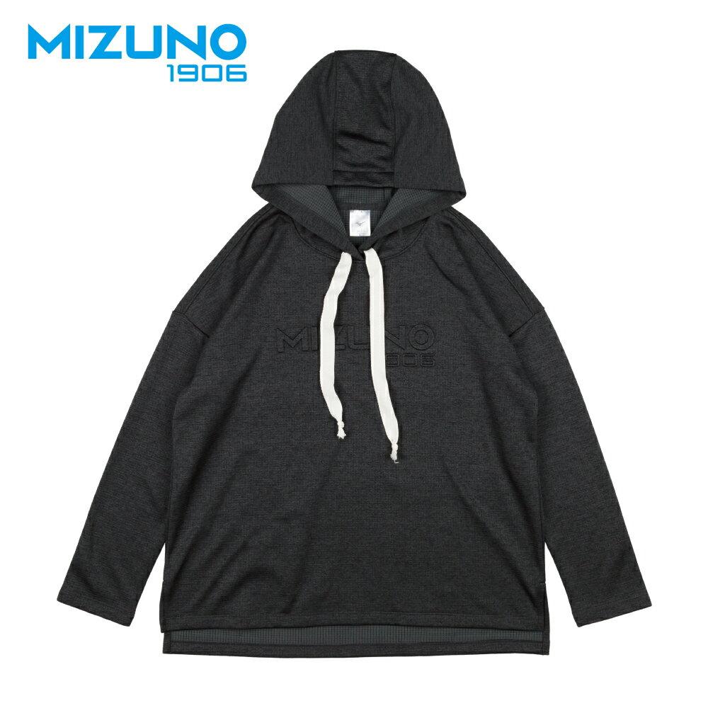 MIZUNO 1906 女款休閒長袖連帽T恤 D2TA870309 (深黑灰) 【美津濃MIZUNO】 0