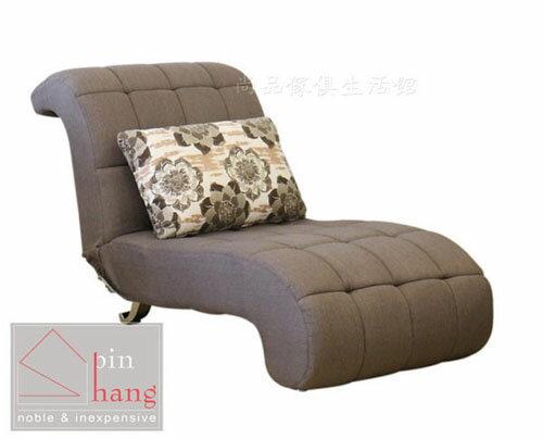 ~尚品傢俱~226~06 溫絲蕾 布面貴妃椅^~可多段式調整高度 舒適沙發床 沙發躺椅