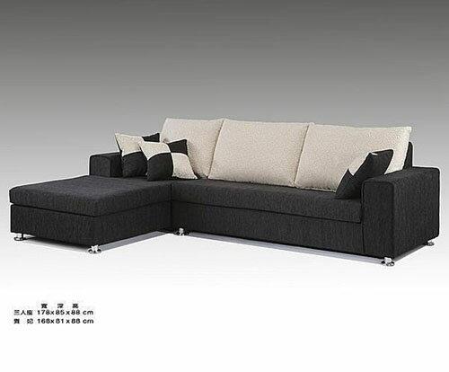 【尚品家具】689-20 表參道 現代L型布沙發,可訂色~台灣製造《台中市部分免運》