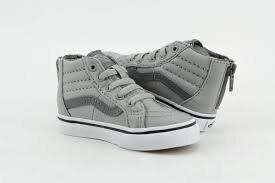 VANS SK 8 HI ZIP 灰 白 幼兒鞋 US 4~10 VN0A32R3NFF D