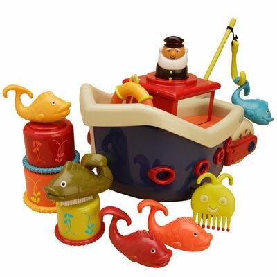 【美國B.Toys感統玩具】 小船長釣魚組【紫貝殼】