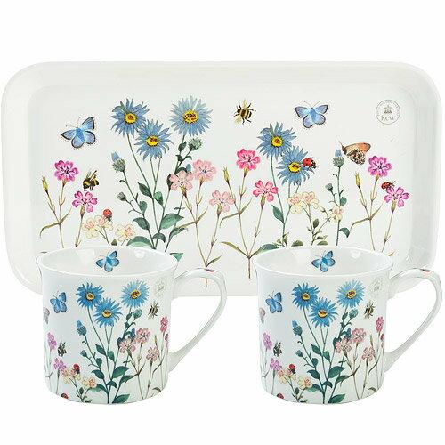 《CreativeTops》Kew托盤+雙馬克杯(花園瓢蟲230ml)