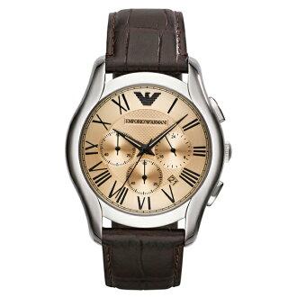 EMPORIO ARMANI/AR1785經典雅痞計時腕錶/咖啡面44.5mm