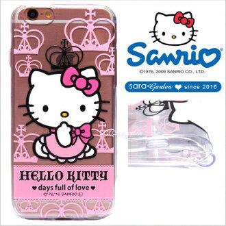 官方授權 三麗鷗 Sanrio Hello Kitty 浮雕 彩繪 iPhone 6 6S Plus Note5 Z5 Z5P A5 A7 A9 手機殼 軟殼 公主皇冠【D0220188】
