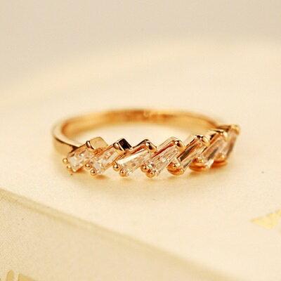玫瑰金戒指鑲鑽銀飾-閃亮高貴滿鑽百搭母親節生日情人節禮物女飾品73by29【獨家進口】【米蘭精品】