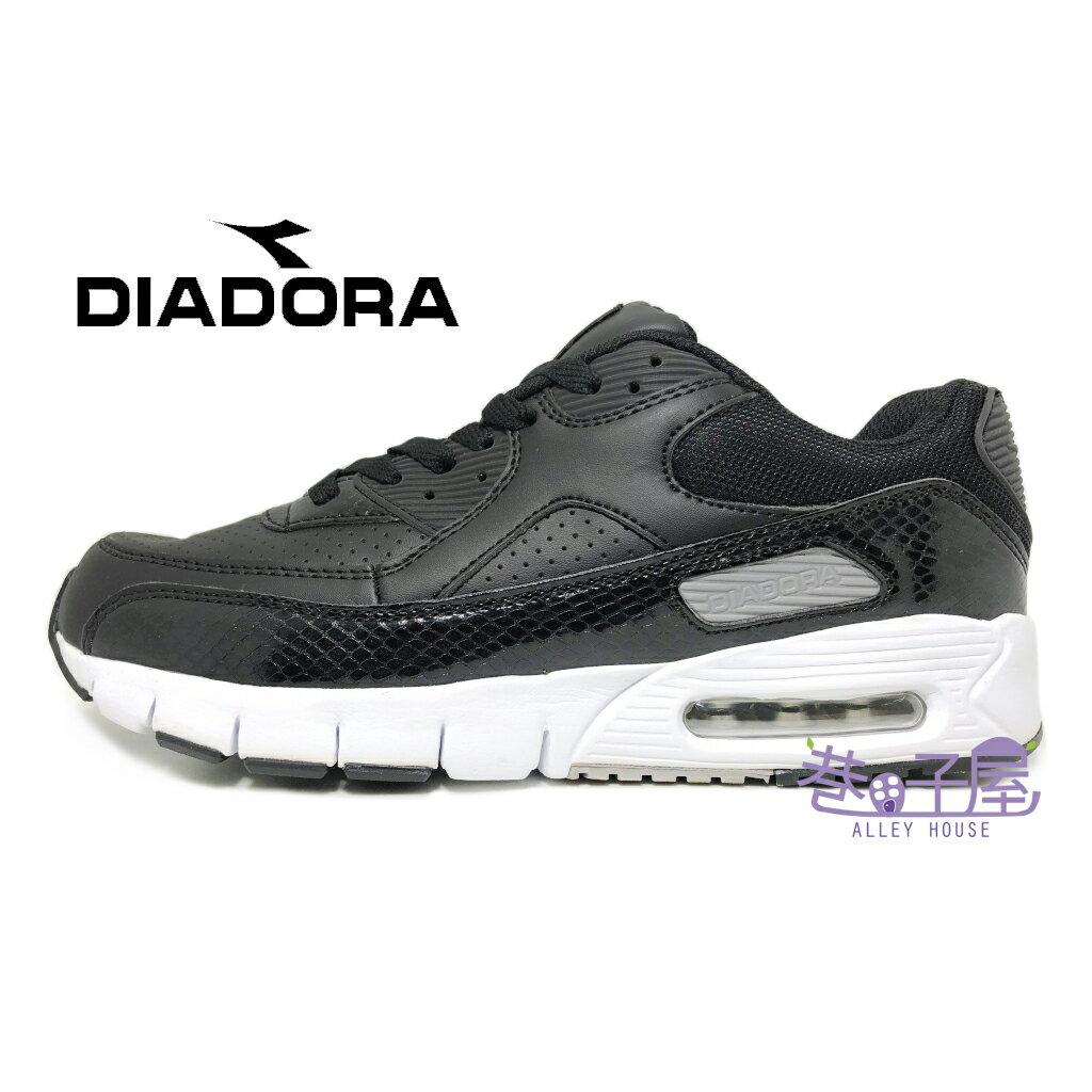【巷子屋】義大利國寶鞋-DIADORA迪亞多納 男款E寬楦乳膠動能氣墊運動慢跑鞋 [3350] 黑 超值價$590