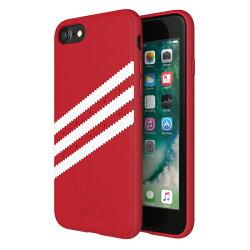 adidas Originals 經典三條線 4.7吋/5.5吋 iPhone7/8 Plus/i7+/i8+/i7/i8 紅色 耐衝擊 雙料材質保護殼 雙料材質 斜紋 背蓋/手機套/保護套/手機殼/28592/28596