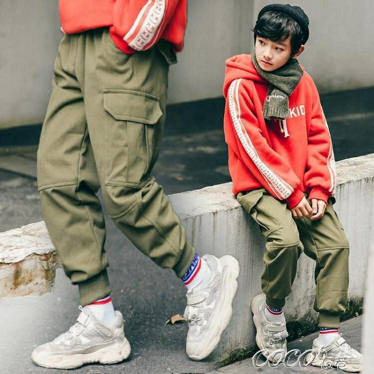 兒童褲子 童裝男童休閒褲冬裝新款兒童洋氣保暖加絨加厚工裝褲中大童潮
