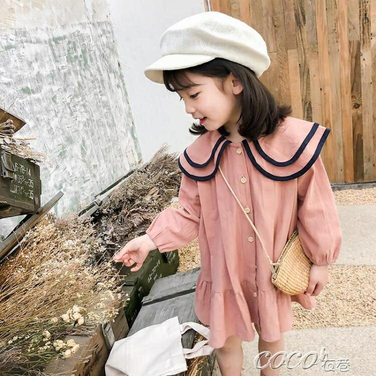 兒童連身裙 女童春裝新款超洋氣小童2-8歲3寶寶4兒童連身裙6公主裙子春秋