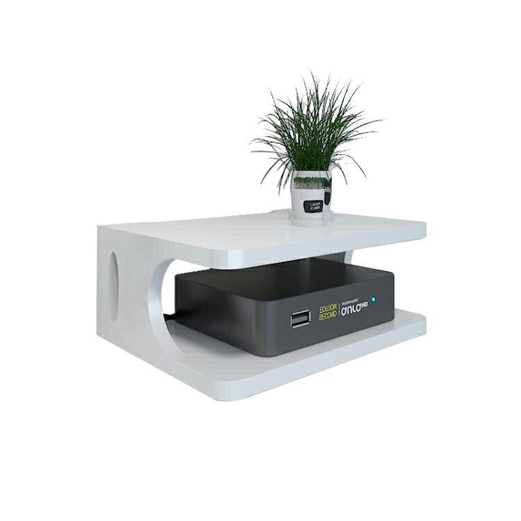 wifi機掛架 電視機頂盒置物架免打孔客廳墻上壁掛架無線WiFi路由器收納盒臥室