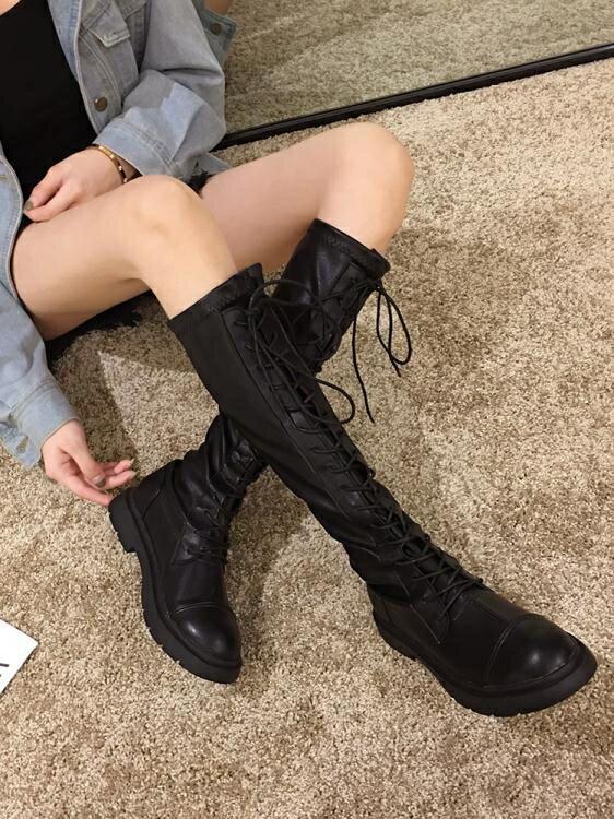 長靴 長靴女過膝靴新款秋季靴子ins百搭粗跟長筒秋款高筒騎士靴潮