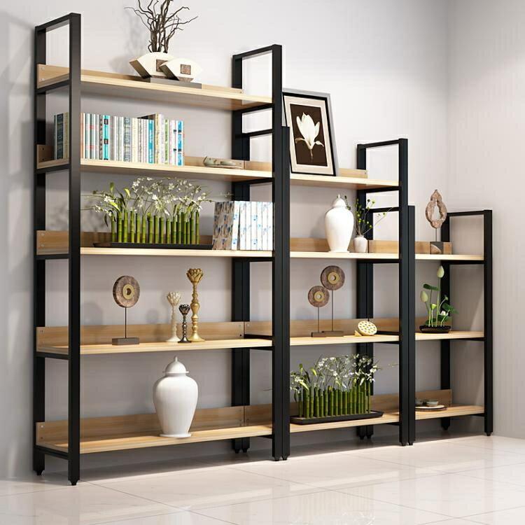 特賣書架鋼木書架書櫃置物架書架多層書櫥組合收納架儲物櫃貨架展示架