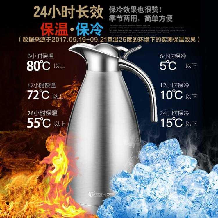 熱水壺不銹鋼保溫壺家用熱水瓶大容量304保溫瓶暖水壺開水瓶歐式2升