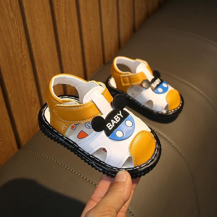 女童涼鞋 新款寶寶鞋小童叫叫鞋學步鞋 男女童兒童鞋子防滑軟底涼鞋