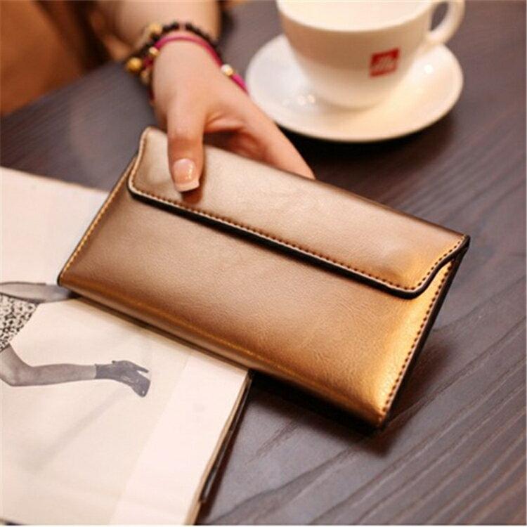 長夾 長款錢包女新款簡約歐美超薄卡位錢夾多功能皮夾女士錢夾