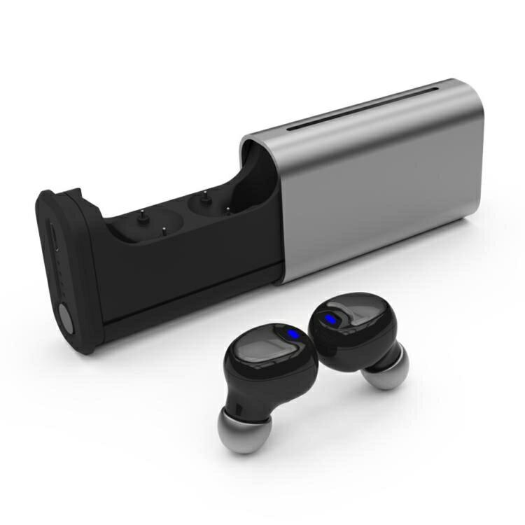 TWS9106爆款鋁合金 藍芽耳機5.0觸摸迷你 對耳雙邊通話 自動配對