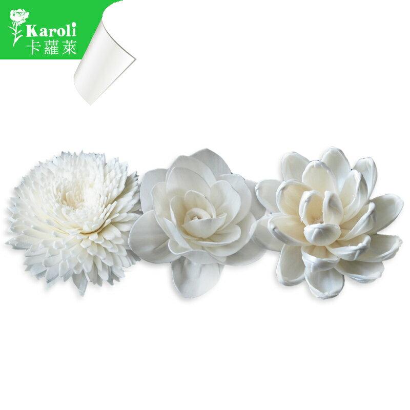 karoli卡蘿萊 擴香水竹精油專用~純手工通草花 開玫花  直徑8cm