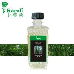 【karoli卡蘿萊】超高濃度水竹擴香竹補充液 300ml 檀香精油(森林系列) 藤條 瓷花用