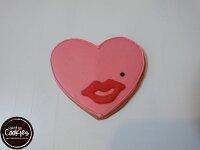 分享幸福的婚禮小物推薦喜糖_餅乾_伴手禮_糕點推薦【裸餅乾Naked Cookies】愛心紅脣6入-創意手工糖霜餅乾,婚禮/生日/活動/收涎/彌月