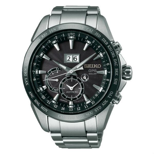 SeikoAstron8X42-0AC0D(SSE149J1)太陽能GPS對時大視窗日期時尚腕錶黑面45.5mm