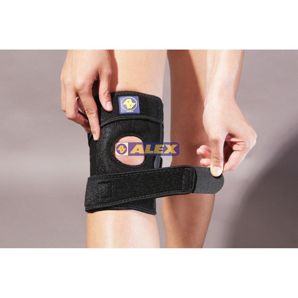 [大自在體育用品] ALEX 護膝 T-39 矽膠單側條護膝 單邊一支 護具