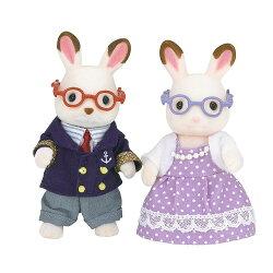 【Fun心玩】EP15130 麗嬰 日本 EPOCH 森林家族 可可兔爺爺奶奶組 玩具 玩偶 扮家家酒 聖誕 生日 禮物