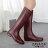 ZALULU愛鞋館 JK013 預購 防水菱格紋壓邊時尚磨砂面高筒雨靴-黑 / 紅棕36-40 1