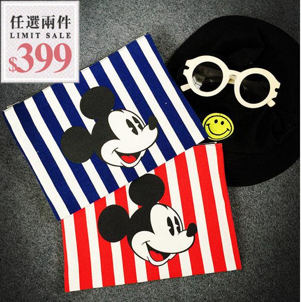 米奇信封包-韓版超可愛卡通米奇大容量手拿信封包【AN SHOP】 - 限時優惠好康折扣