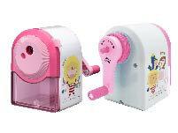 奶油獅大小通吃削鉛筆機 (粉紅/白)PS-403
