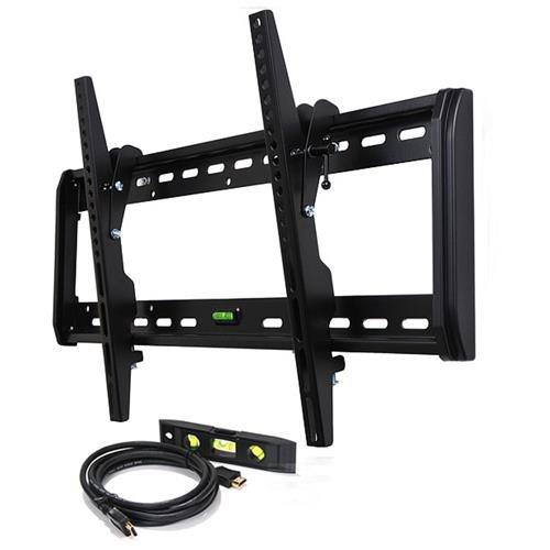 "VideoSecu Tilt TV Wall Mount for 32 37 39 40 42 46 47 50 52 55 57 58 60 64 65"" LED LCD Plasma HDTV Displays - Loading Capacity 165 lbs M74 0"
