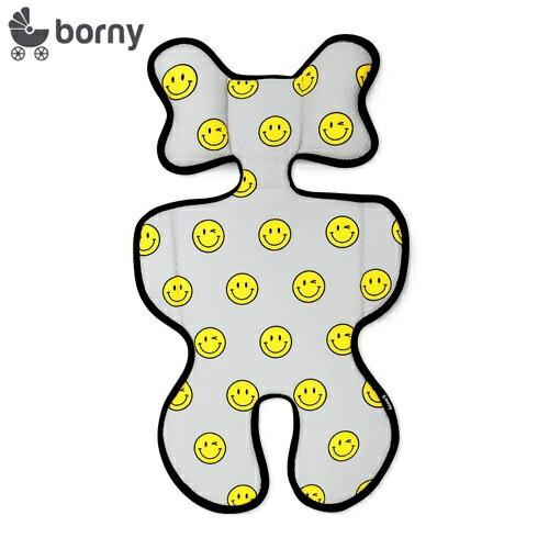 韓國【Borny】3D立體推車涼墊(推車、汽座適用) (微微笑) - 限時優惠好康折扣