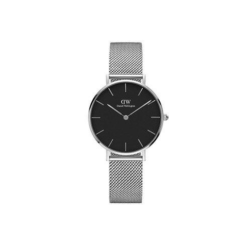 DW Daniel Wellington 丹尼爾惠靈頓 Classic Black Petite Sterling 米蘭風格時尚腕錶 DW00100162 銀 黑 32mm 0
