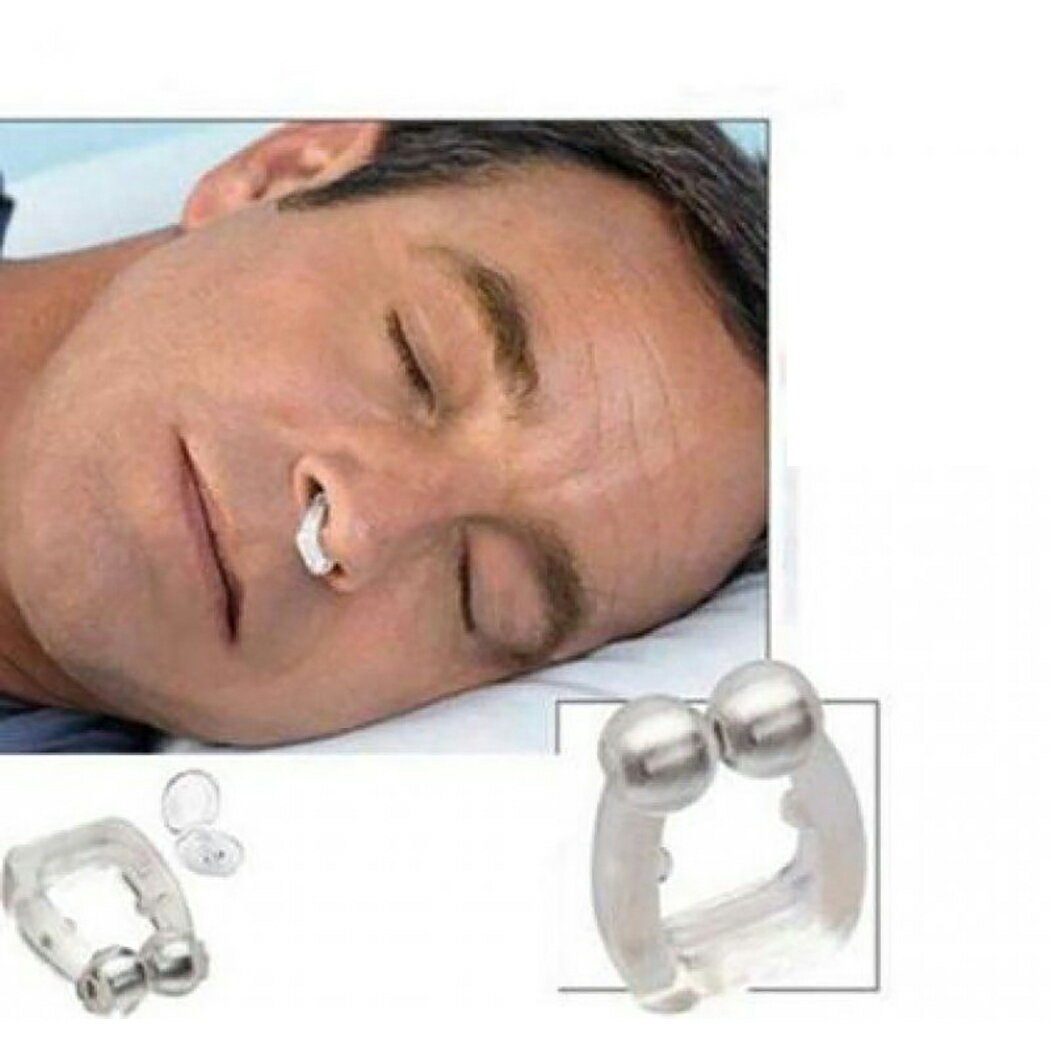 Stop Snoring Anti Snore Free Sleep Silicone Magnetic Nose Clip 2