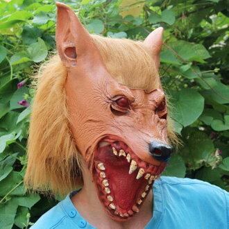 【塔克】狼面具 萬聖節 狼人 狼嚎 大灰狼 灰太郎 面具/眼罩/面罩 cosplay 派對 整人 變裝