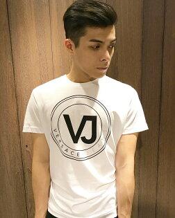 美國百分百【全新真品】VersaceJeans凡賽斯VJ短袖T恤logoT-shirt白色S號J121