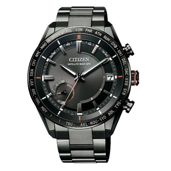 CITIZEN 星辰 CC3085-51E 代言人廣告款/時尚炫黑光動能GPS衛星對時腕錶/黑面43.5mm