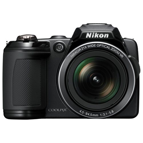 "Nikon Coolpix L120 14.1 Megapixel Compact Digital Camera  with 21x Optical Zoom, 3"" LCD, HDMI, Black 0"