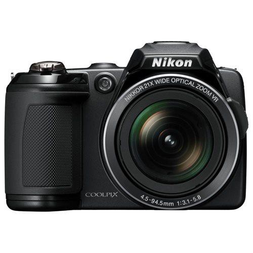Nikon Coolpix L120 14.1 Megapixel Compact Digital Camera with 21x Optical Zoom, 3