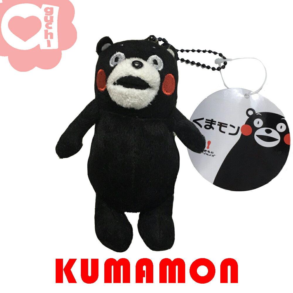KUMAMON 熊本熊 11 cm 滿臉疑惑電繡吊飾/掛飾 可隨身外掛包包或是當鑰匙圈使用
