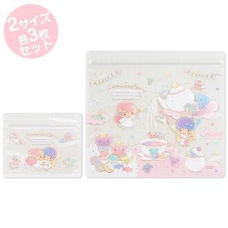 【真愛日本】16040200004夾鏈袋組-TS午茶粉 三麗鷗家族 Kikilala 雙子星 夾鏈袋 小物 飾品 收納 居家 用品