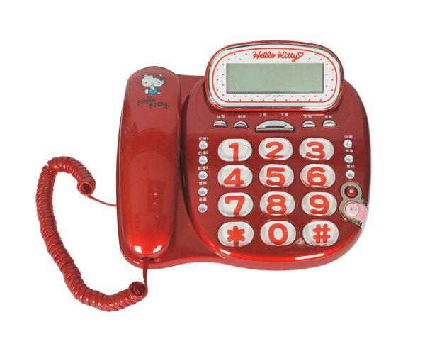 KITTY有線電話機KT-229T紅【三井3C】